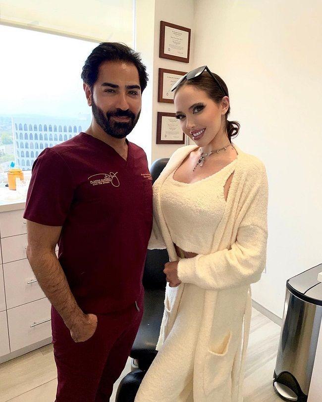 Dr Payam Jarrah Nejad with Patient