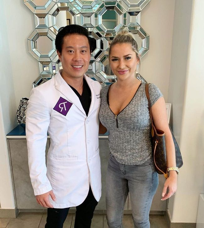 Dr Roger Tsai with his patient