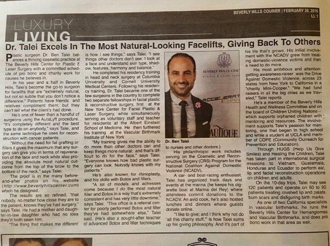 Dr Ben Talei in newspaper