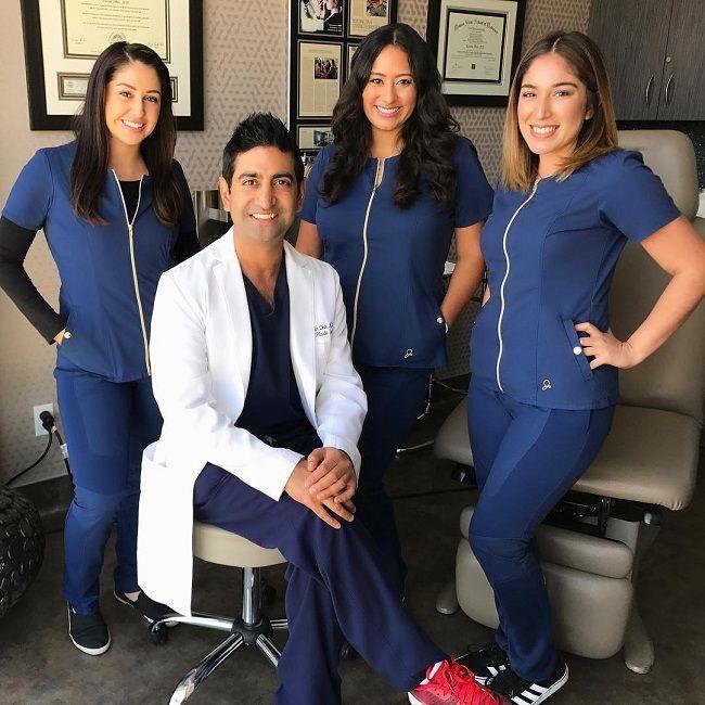 Dr Karan Dhir with his team