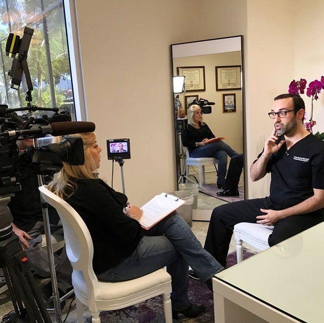 Dr Kian Karimi on the sets of extratcv