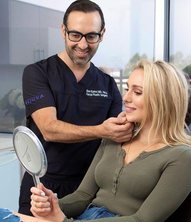 Dr Kian Karimi with his patient
