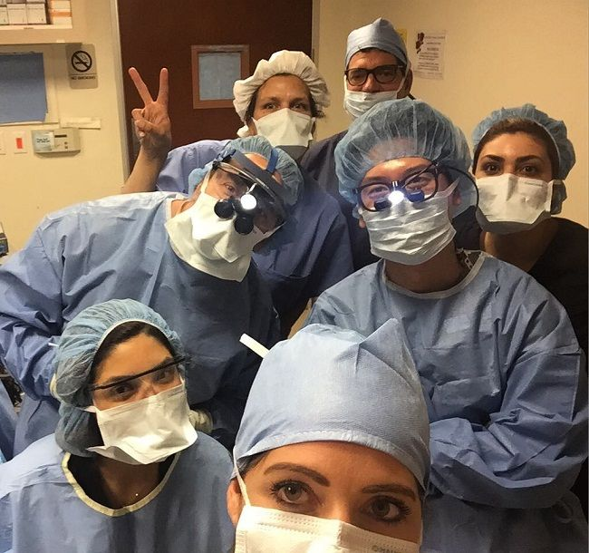 Dr Paul Nassif with his medical team
