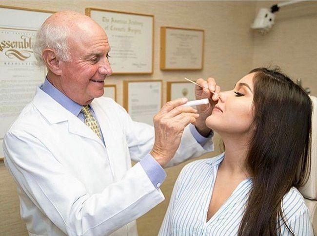 Dr Robert Kotler with his patient