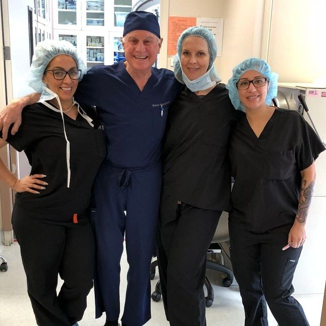 Dr. Robert Kotler with his medical team