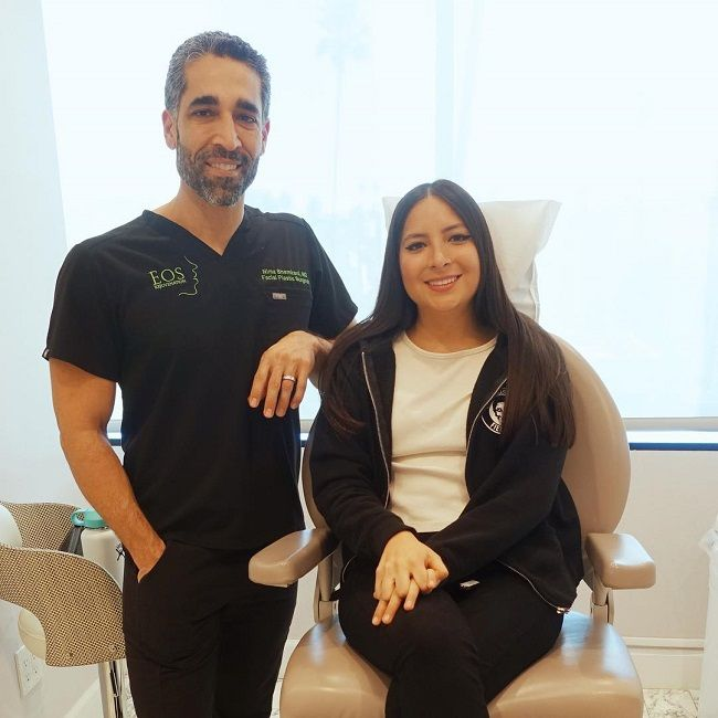 Dr. Nima Shemirani with patient